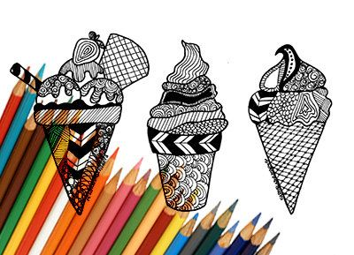 400x289 Ice Cream Coloring Page Download To Print Sweet Ice Cream Cone