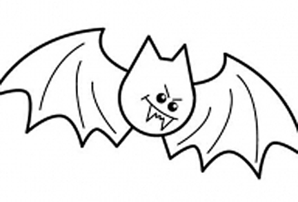 432x293 Bat Drawing For Kids Easy Draw Halloween Pictures Wrha Ideas