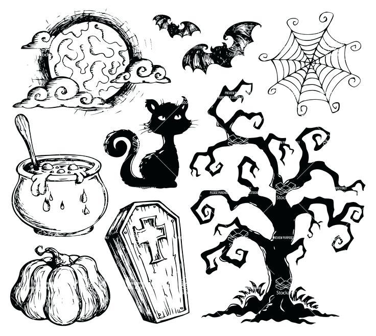 736x657 Simple Halloween Drawings Halloween Drawing Ideas Drawings Ideas
