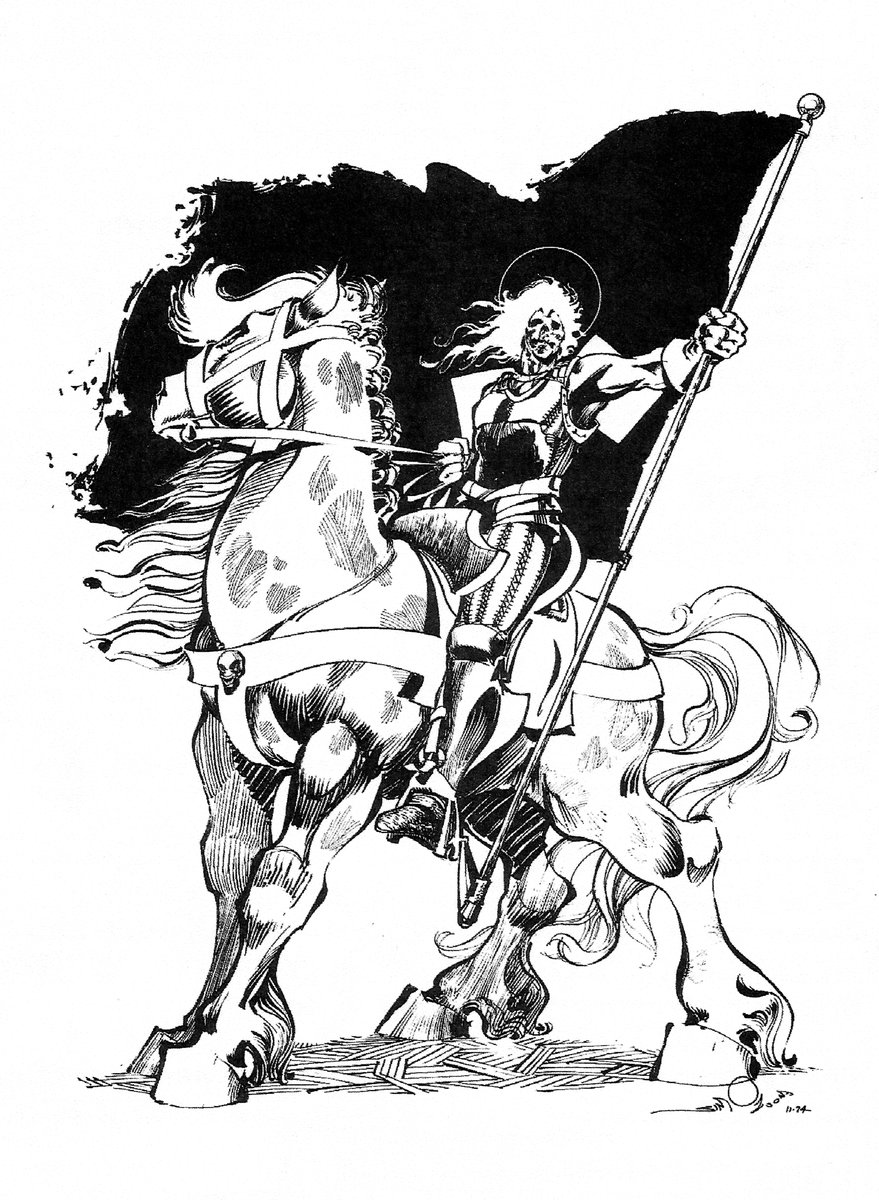 879x1200 Walter Simonson On Twitter Horse And Rider. Pen And India Ink