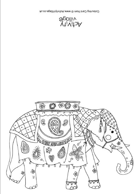 460x649 India Colouring Pages