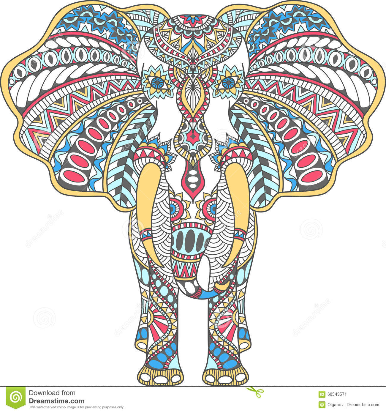 1300x1390 Collection Of Indian Elephant Drawing Color High Quality