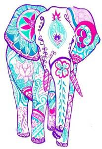 206x300 Elephant Art, Colorful Elephant, Indian Elephant, Pattern
