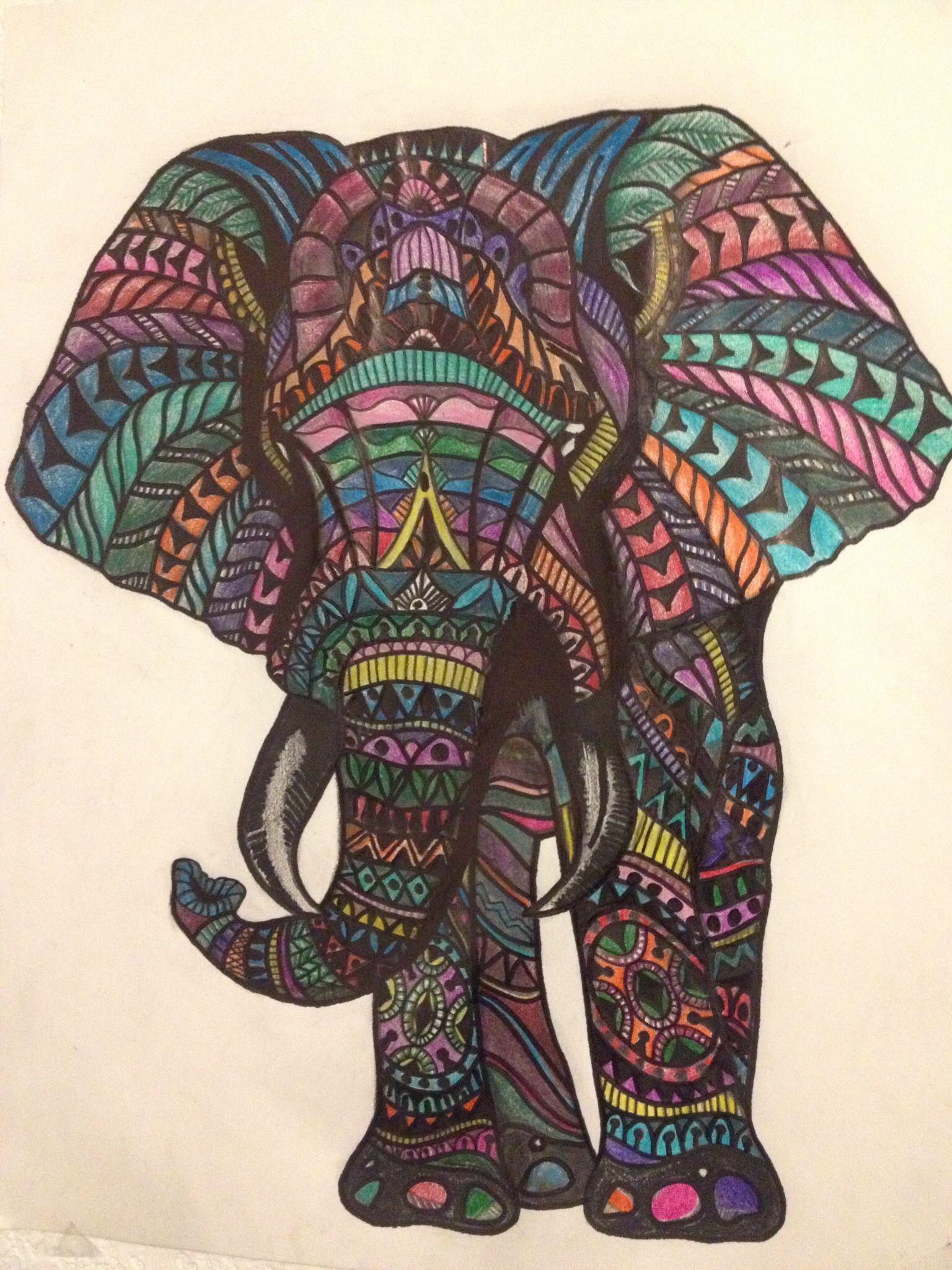 1536x2048 Elephant Colored Pencil Drawing Drawings. Artsy