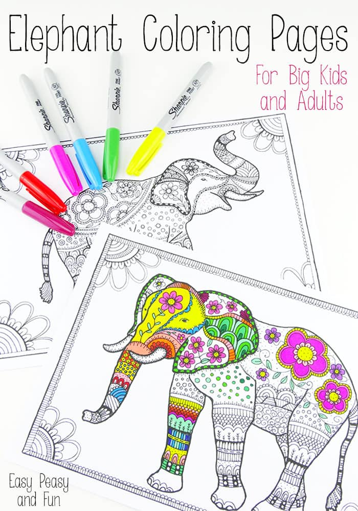 700x1000 Free Elephant Coloring Pages For Adults