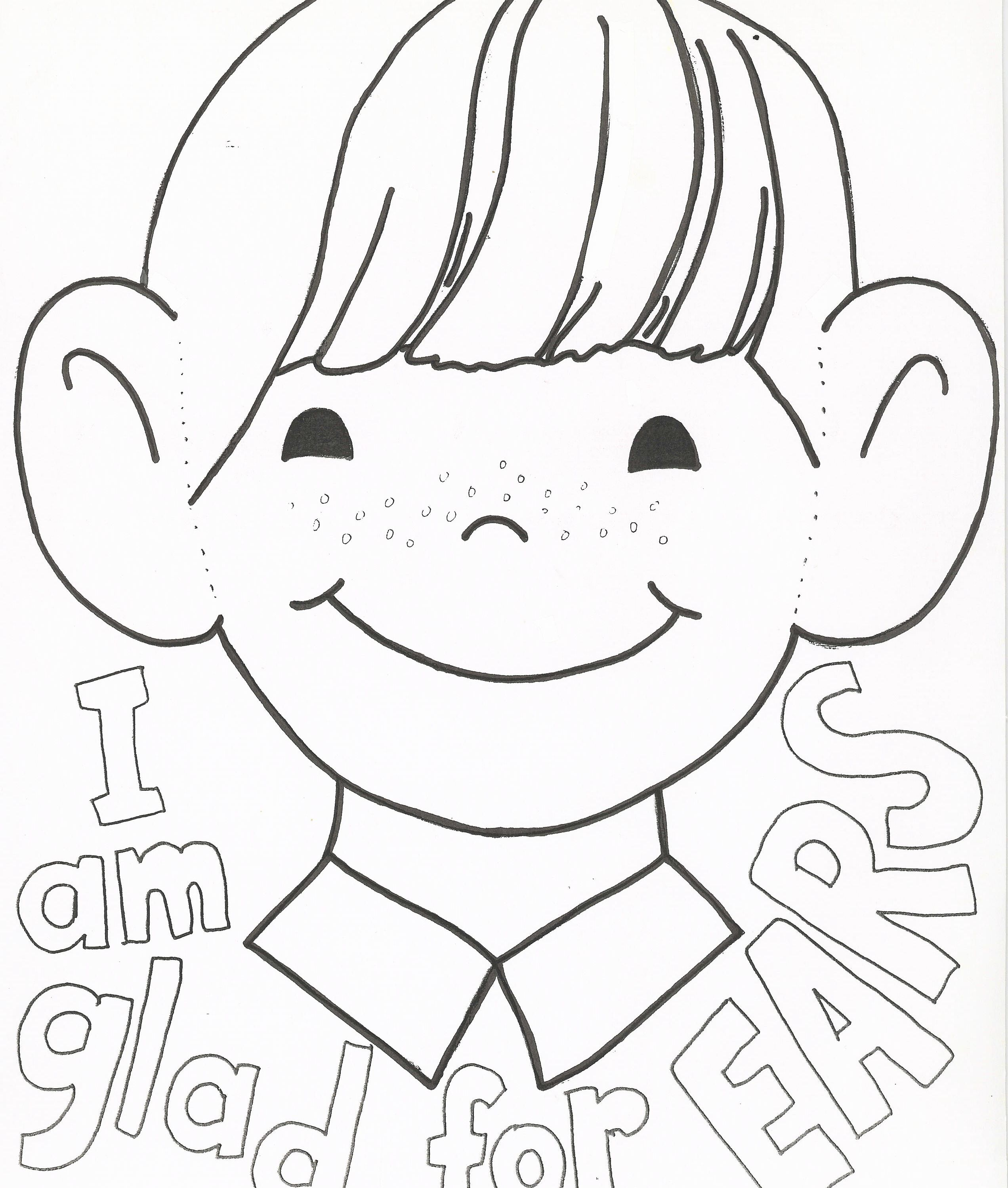 2544x3000 Inner Ear Coloring Page