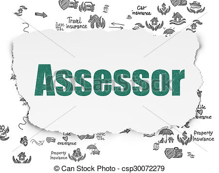 450x357 Insurance Concept Assessor On Torn Paper Background . Stock
