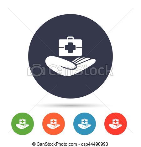 450x470 Medical Insurance Sign. Health Insurance. Medical Insurance Eps