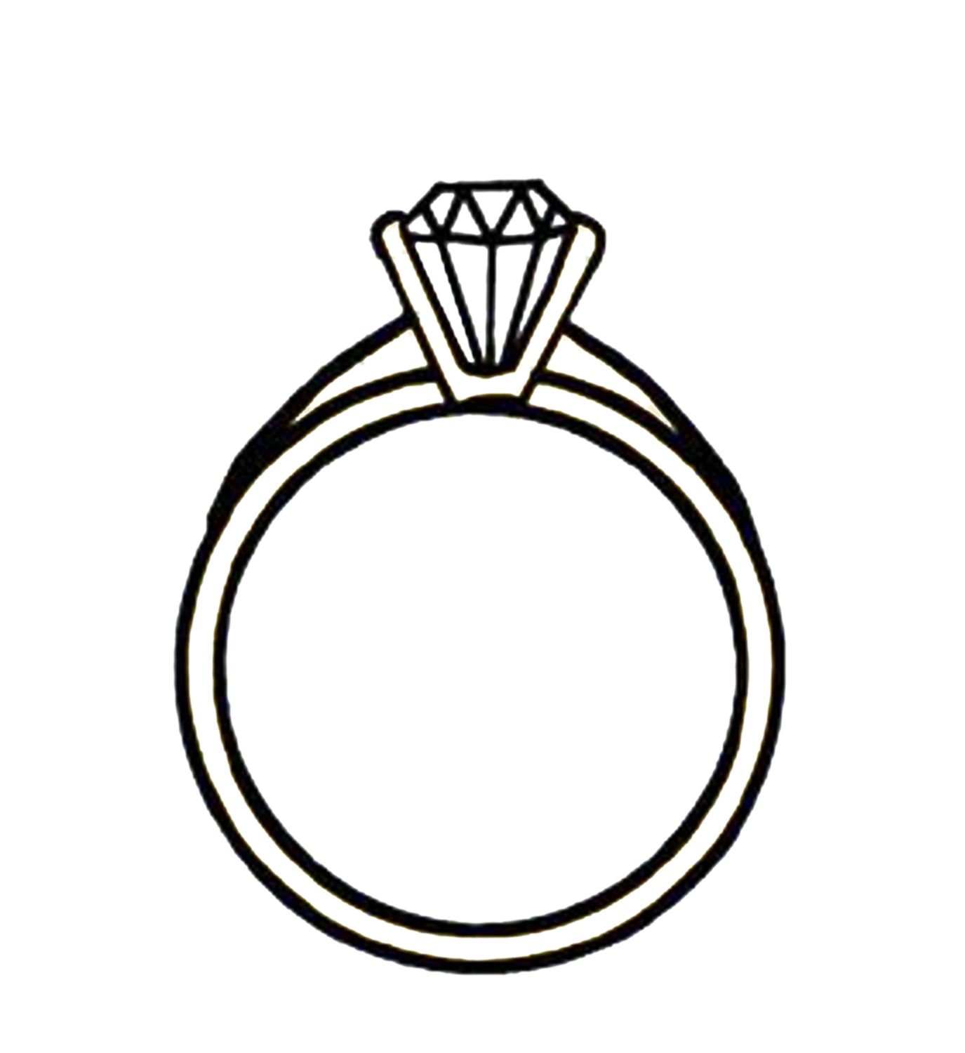 1375x1500 Diamond Engagement Ring Clipart 4 Engagement Rings