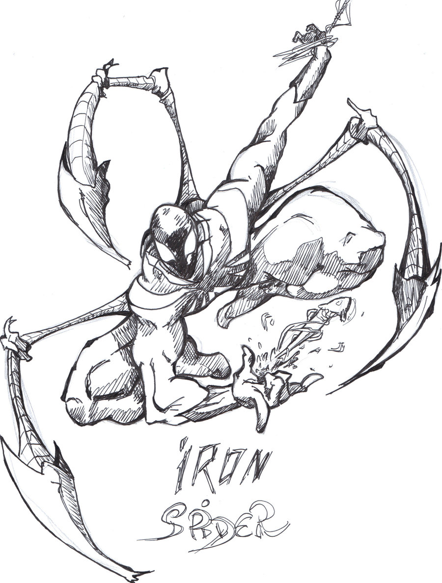 Iron Spider Drawing