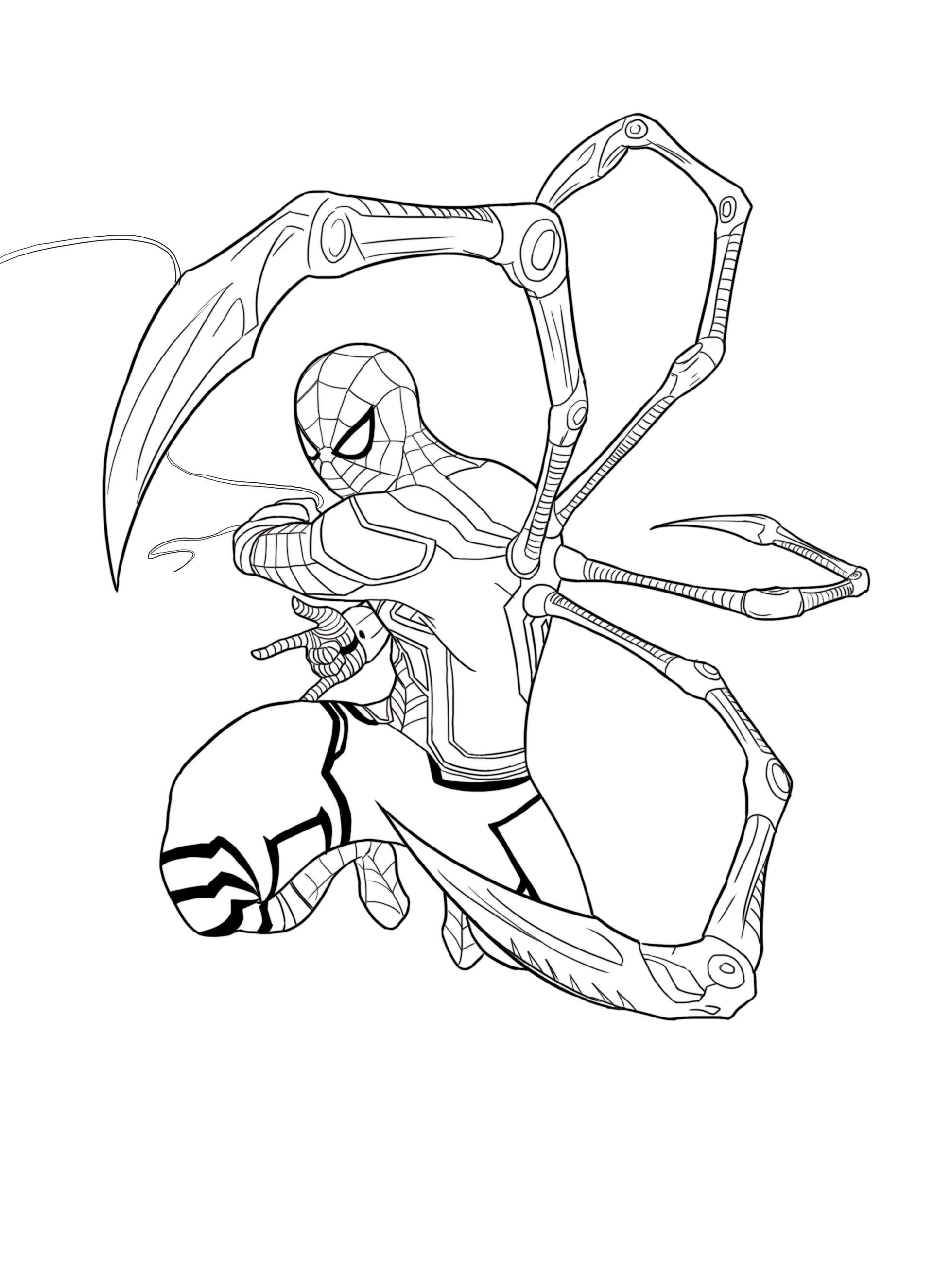 Iron Spider Drawing at GetDrawings   Free download