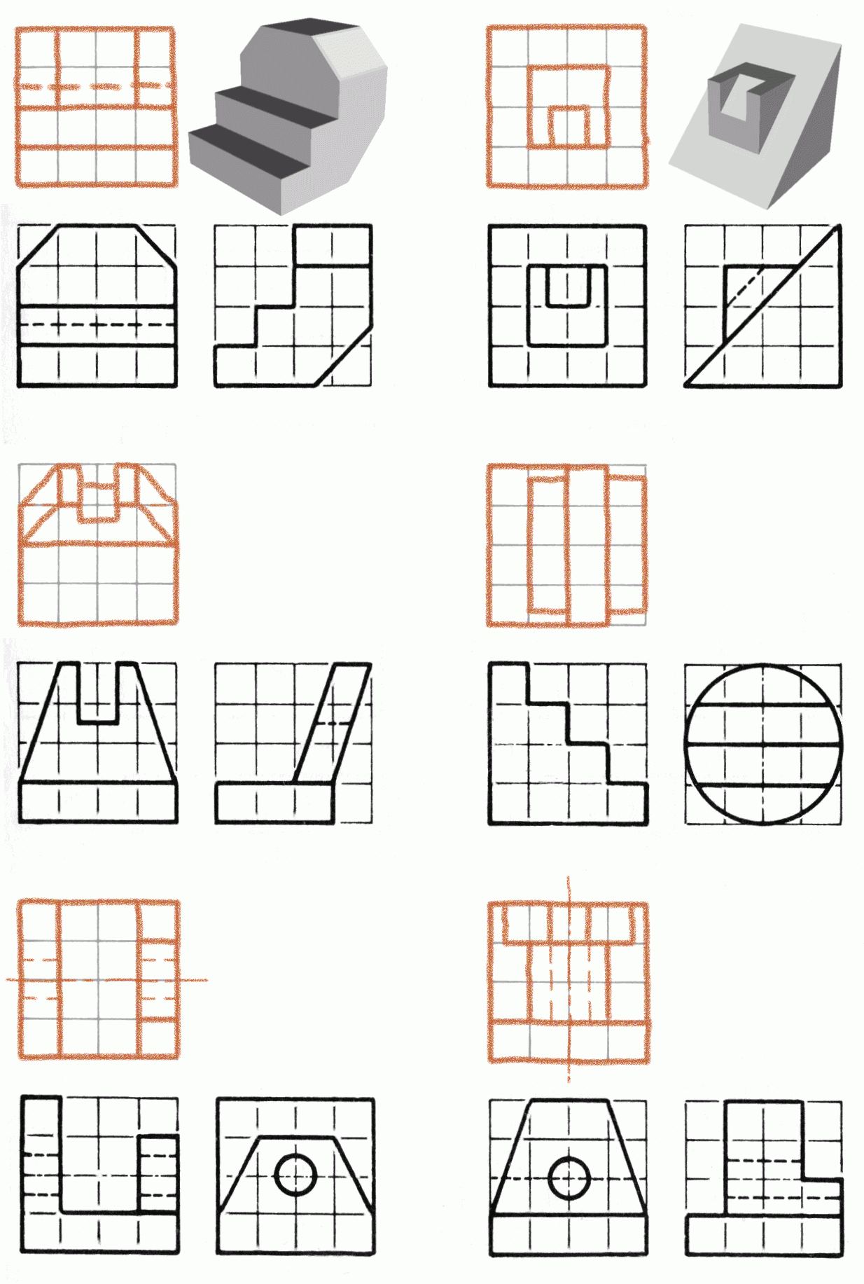 Isometric And Orthographic Drawing Worksheets at ... Orthographic Drawing Worksheet