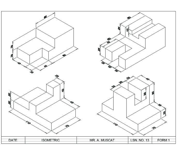 700x560 Isometric Drawing Template And Drafting Isometric Examples