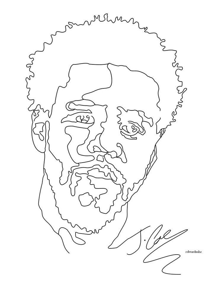 J Cole Drawing Step By Step