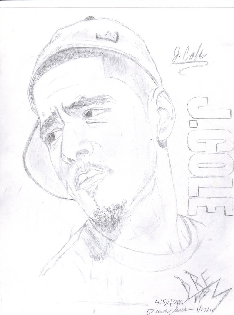 772x1036 Collection Of J Cole Drawing Step By Step High Quality, Free