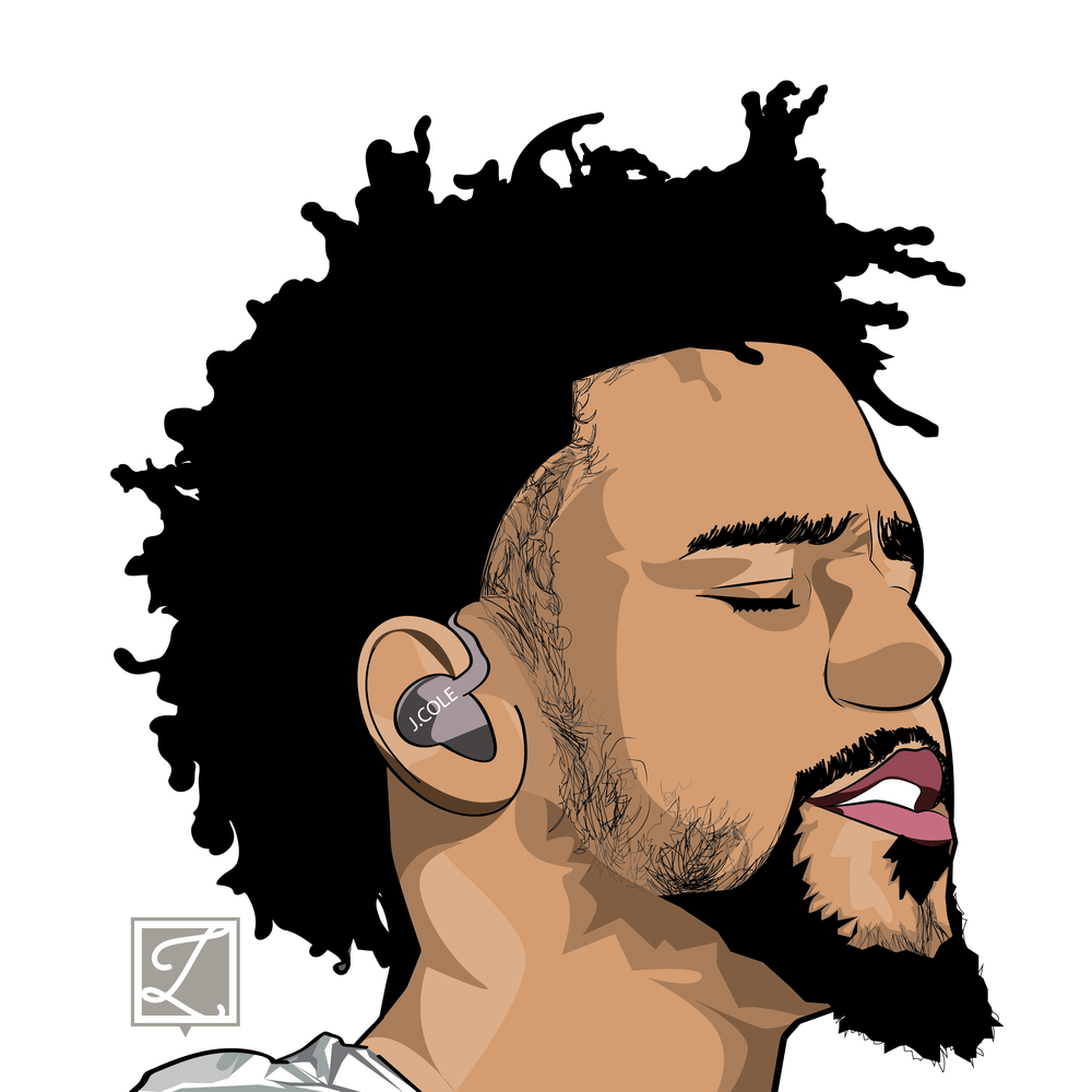 1000x1000 Collection Of J Cole Drawing Step By Step High Quality, Free