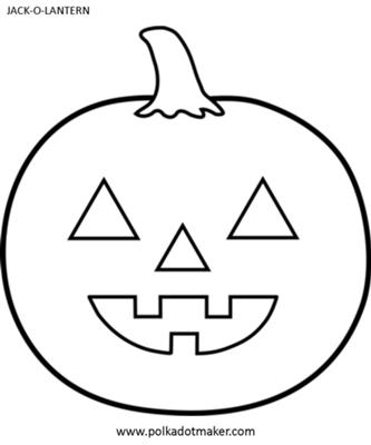 333x400 Templates For Jack O Lantern Faces Jack O Lantern Template