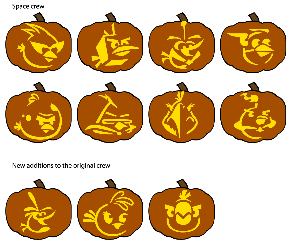 1139x942 Free Homemade Jack O Lantern Stencils Based On Angry Birds Space