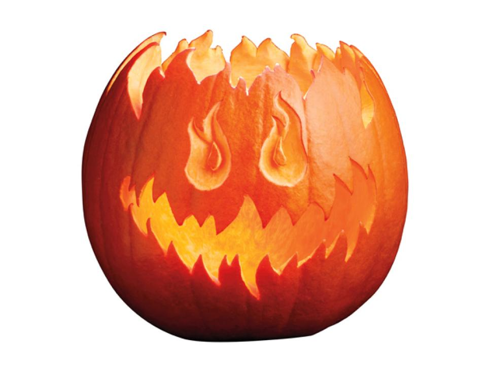 966x725 How To Carve A Pumpkin Into A Flaming Jack O' Lantern Food Network