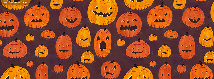 851x315 Jack Olantern Drawing Pattern Facebook Cover