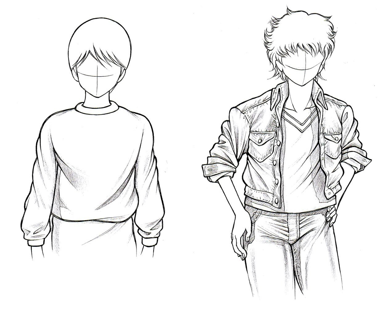 This is an image of Légend Jacket Tied Around Waist Drawing