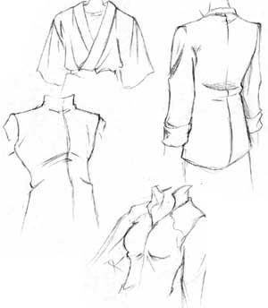300x344 Drawn Coat Shirt Wrinkle