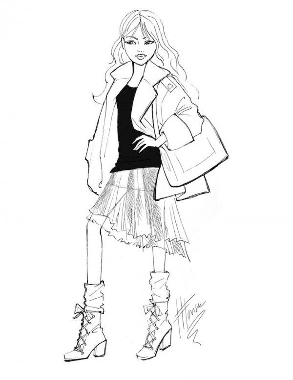 600x776 Best Fashion Sketch Images On Fashion Drawings