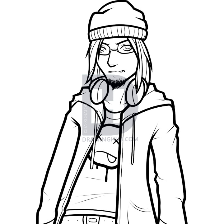 720x720 How To Draw A Hoodie, Draw Hoodies, Step By Step, Drawing Guide