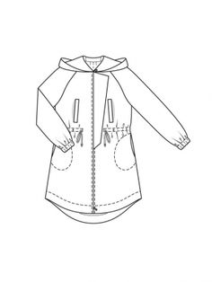 236x314 Unlined Jacket And Belt M6531 Elastic Waist And Pockets
