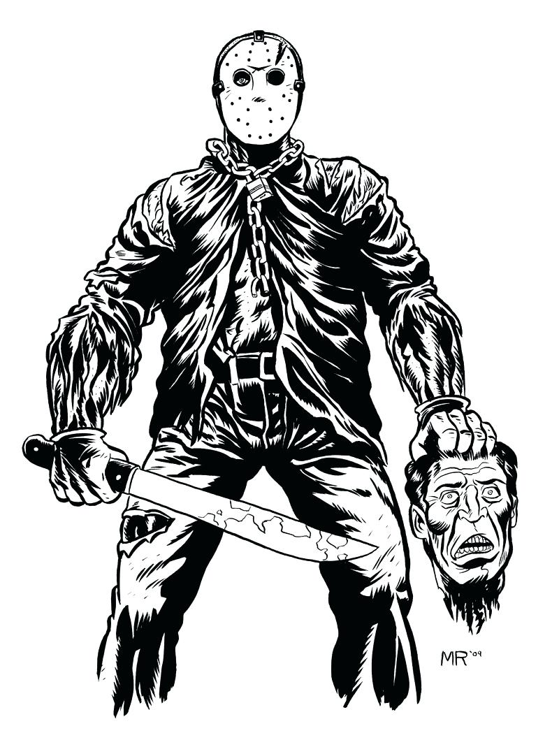 800x1049 Horror Horror Jason Coloring Pages Jason Voorhees Coloring Pages