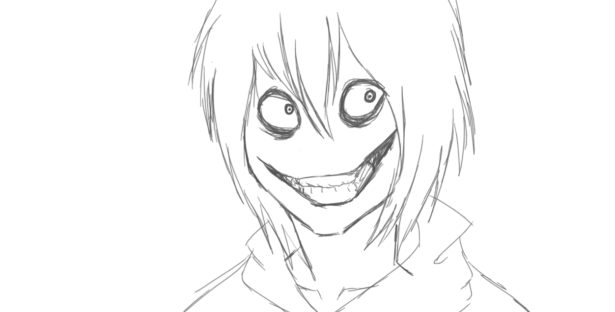 1252x637 Jeff The Killer Sketch By Dabear1234