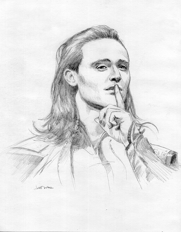 611x785 Loki Drawing By Jeff Ward