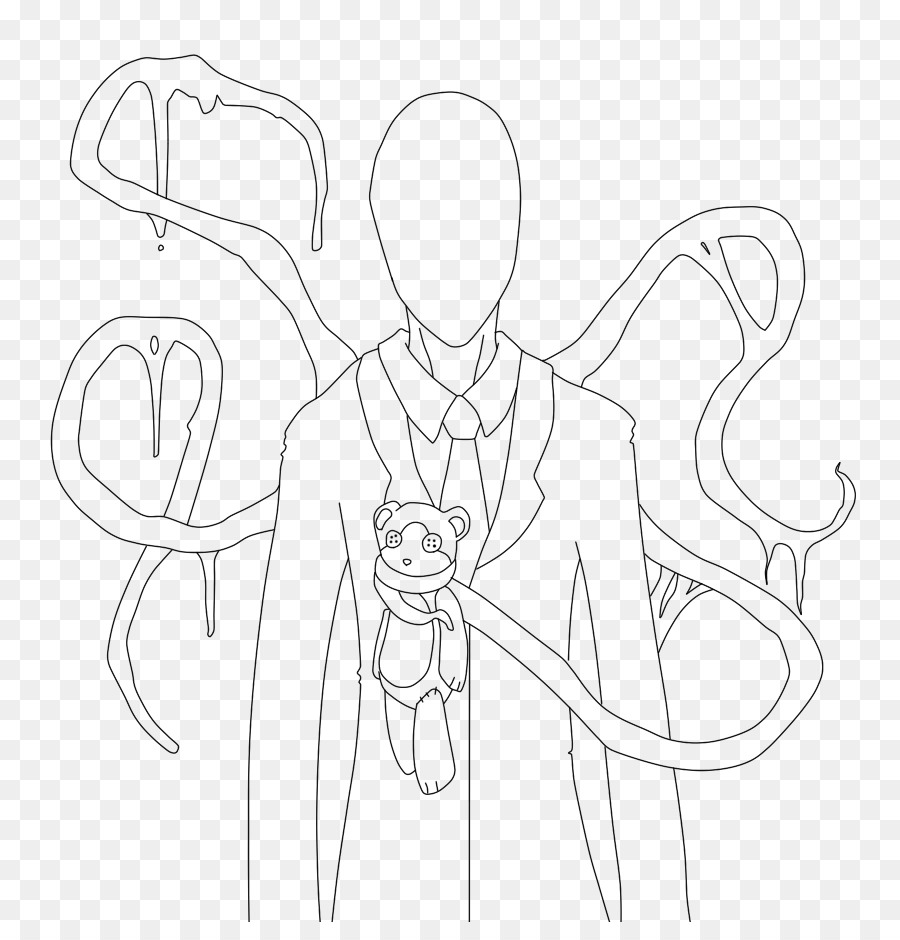 900x940 Slenderman Drawing Jeff The Killer Line Art Sketch