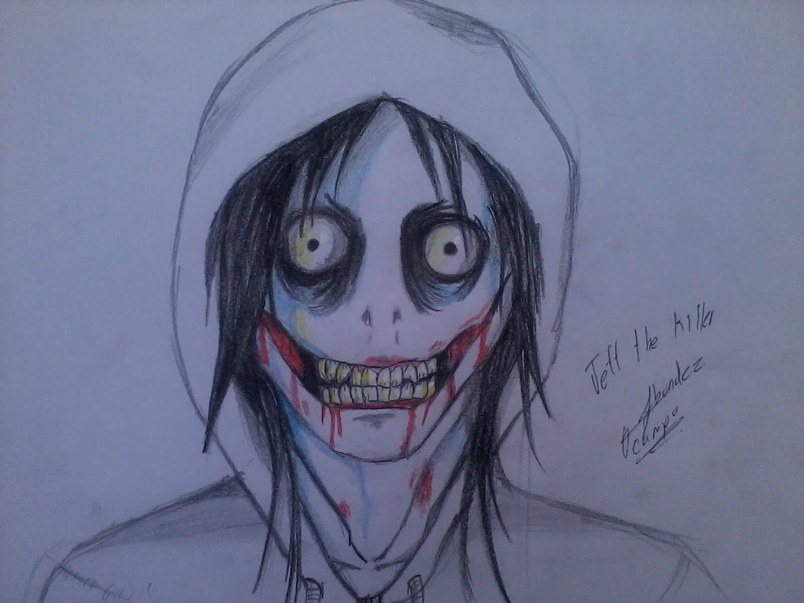 1600x1200 Jeff The Killer Drawing Drawing Jeff The Killer Dibujando A Jeff