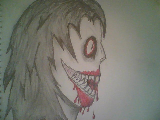 640x480 Jeff The Killer (First Time Drawing Him) By Klhj