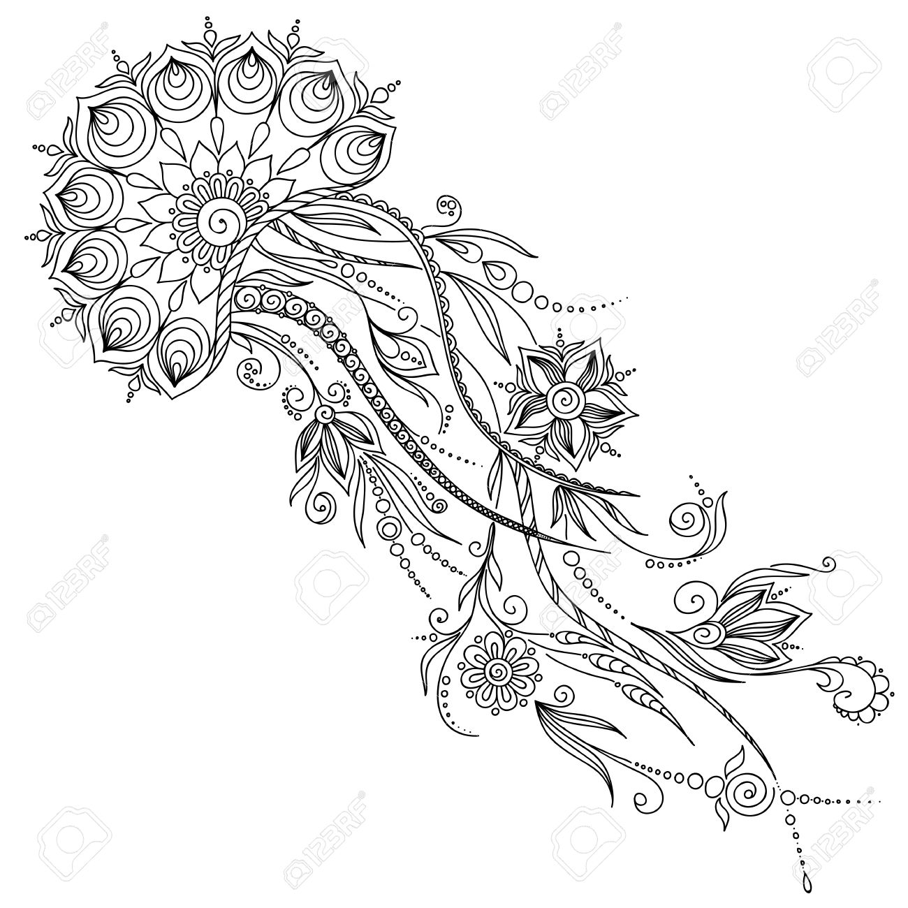 1300x1300 28 Collection Of Abstract Jellyfish Drawing High Quality Free