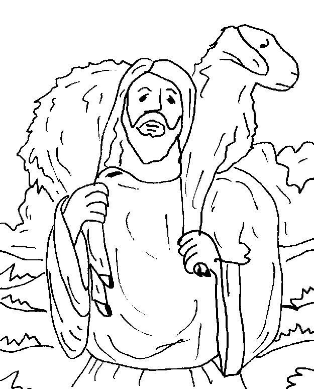 625x774 Jesus With The Lost Sheep Coloring Pages Of And