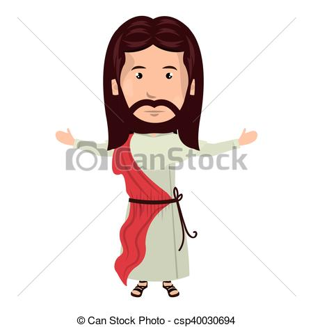450x470 Jesus Christ Man Cartoon. Jesus Christ Man With Open Arms Cartoon