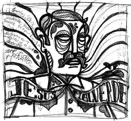 500x463 Jesus Malverde Boceto Para Un Proyecto En Con La