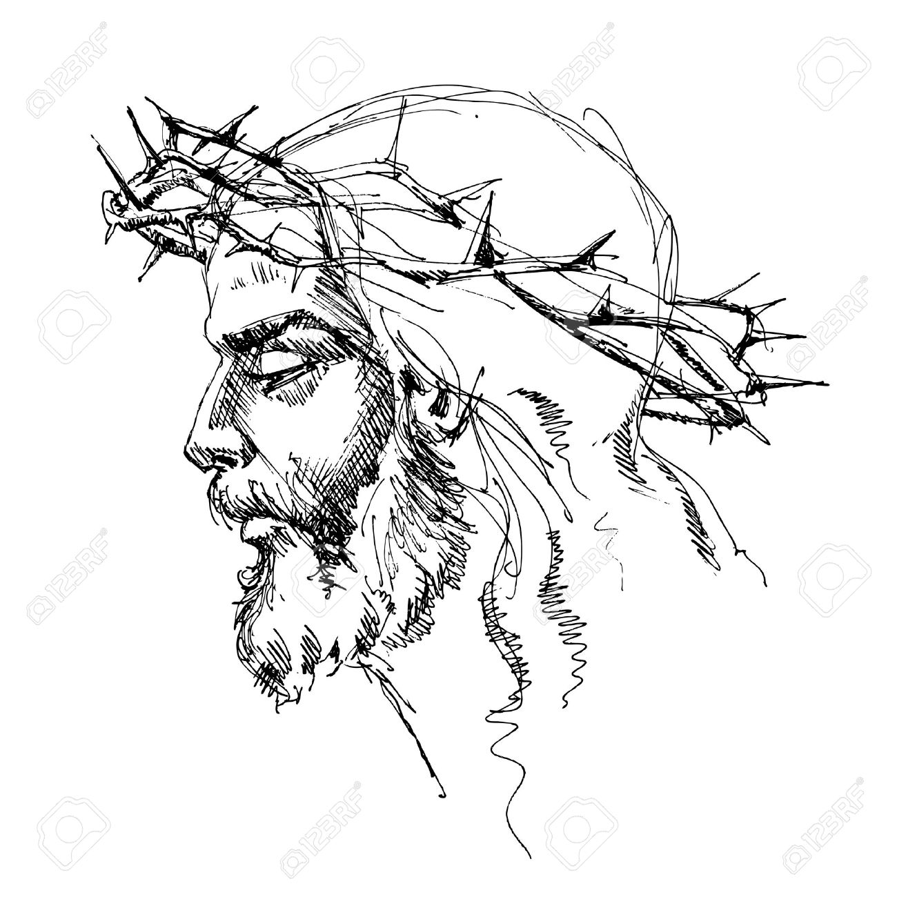 1300x1300 Collection Of Jesus Crown Drawing High Quality, Free