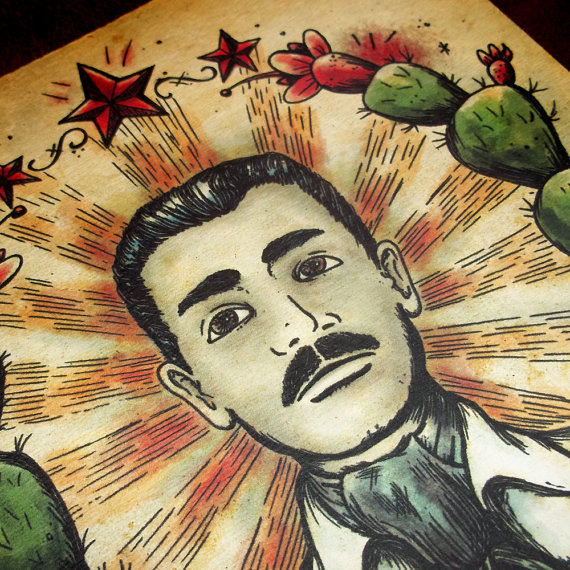 570x570 Collection Of Jesus Malverde Drawing High Quality, Free