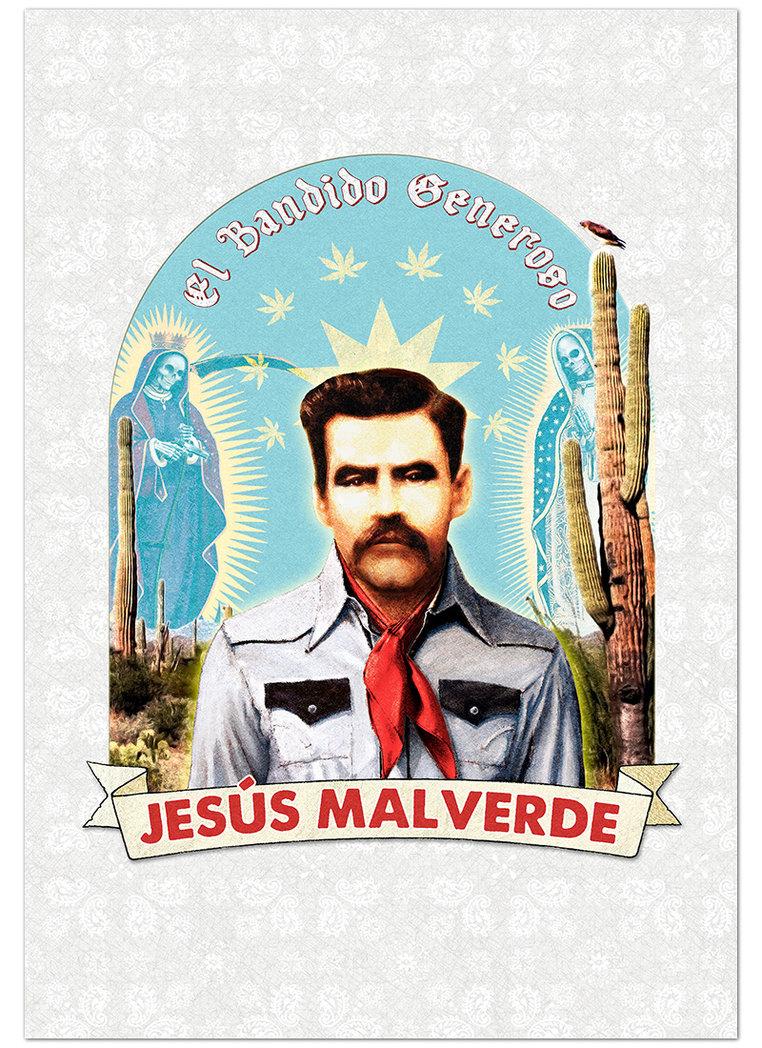 762x1048 Jesus Malverde Print By Hungryknife