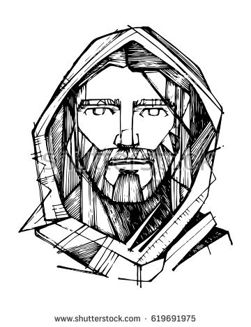 360x470 Collection Of Jesus Drawing Pictures High Quality, Free