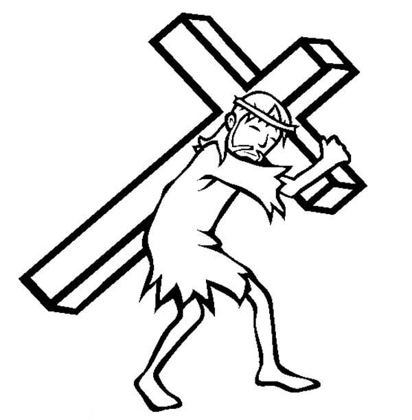 Jesus On The Cross Drawing Easy