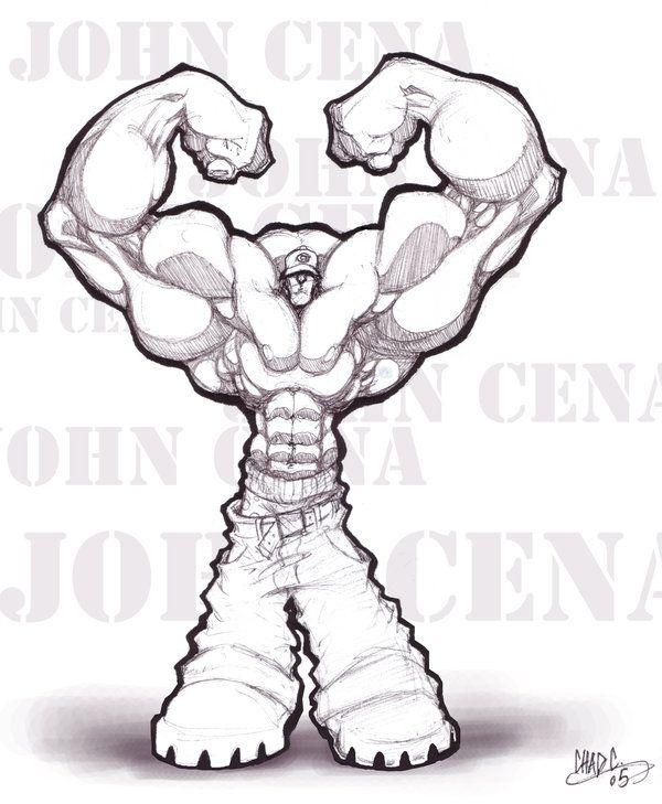 600x729 How To Draw John Cena John Cena 2 By Chadwick J Coleman