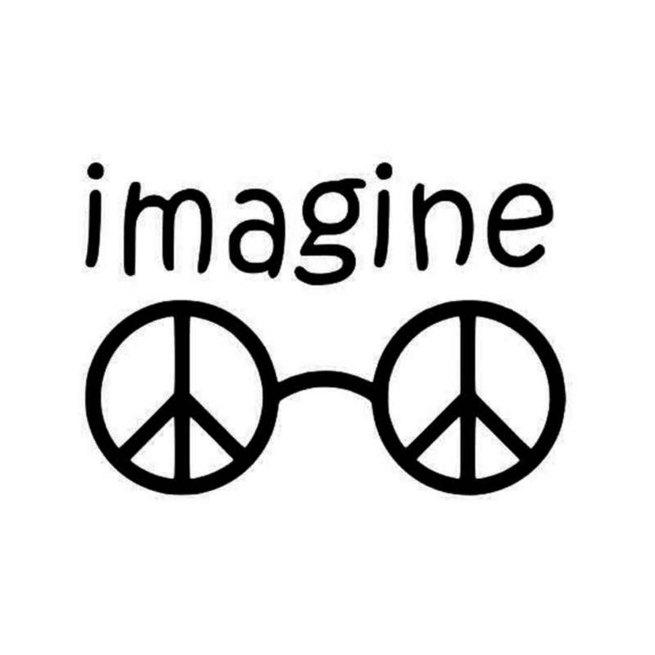 761e3ea74ca3 1280x1280 John Lennon John Lennon Glasses John Lennon Imagine John Lennon  Decal