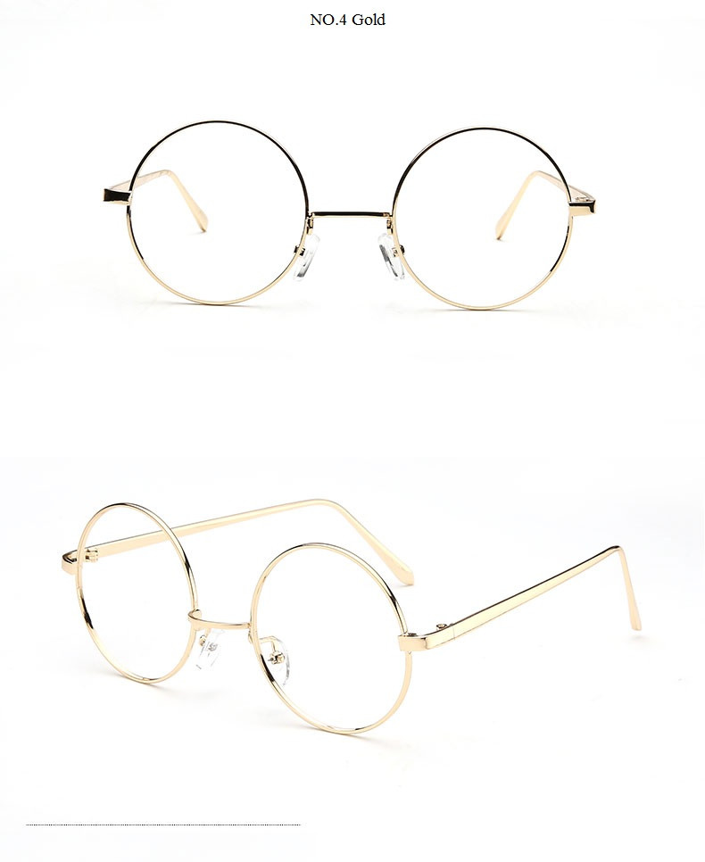 790x966 Wholesale Round Gold Clear Glasses Myopia Clear Frame Glasses
