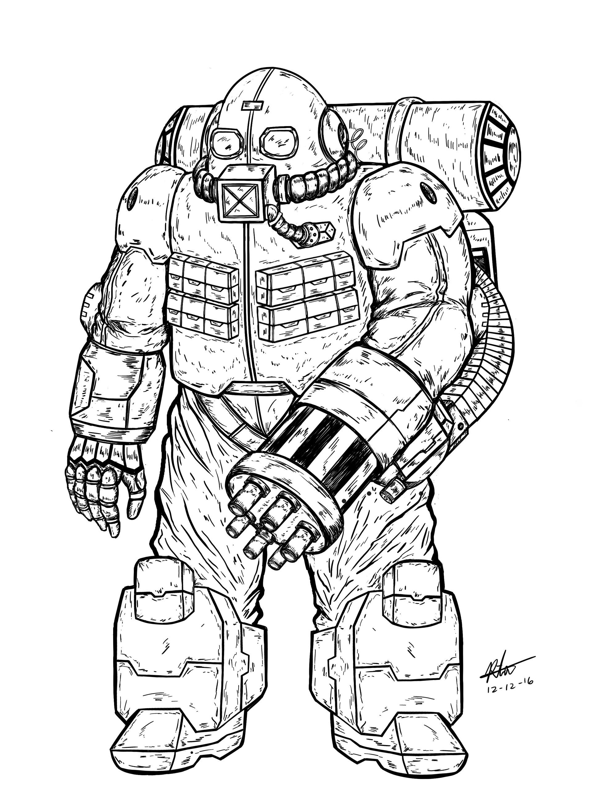 Juggernaut Drawing