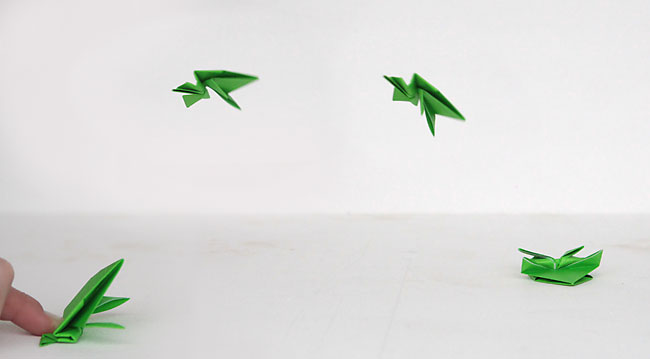 650x359 Jumping Frog Origami Origami Jumping Frogs Easy Folding