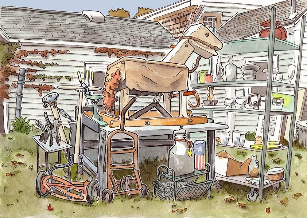 1000x709 Urban Sketchers Seattle Connecticut Junk Shop